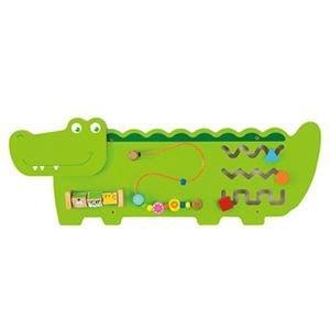 *小貝比的家*超可愛鱷魚多功能學習玩具