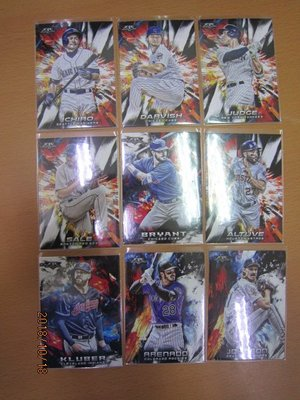 網拍讀賣~Ichiro~Yu Darvish/ Aaron Judge/ Chris Sale~油畫特卡~共9張~500