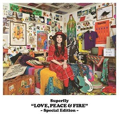 特價預購 Superfly LOVE PEACE & FIRE  (日版Special特別版)10曲追加 最新 2019