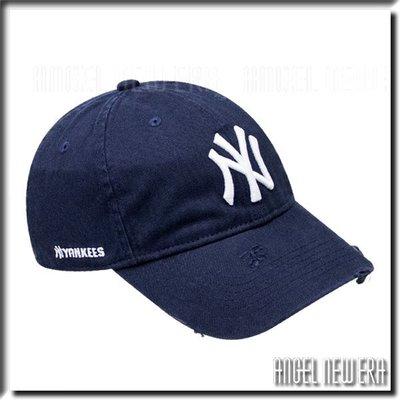 【ANGEL NEW ERA 】MLB Old Fashioned Cap NY 紐約 洋基 深藍 老帽 破壞 水洗