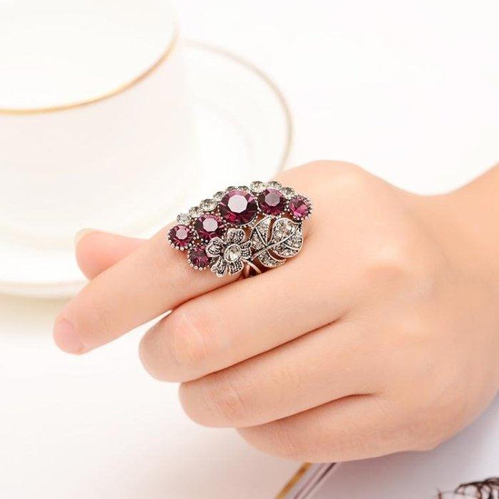 食指戒指女款日韓潮人復古大氣時尚夸張創意裝飾指環歐美個性飾品 IV3158