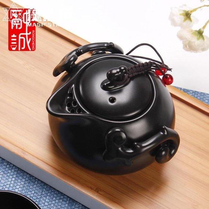 陶瓷定窯茶壺單壺 家用功夫茶具泡茶壺日式旅行茶具手抓壺沖茶器