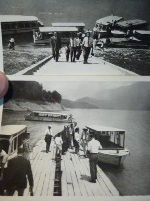 190825~疑似是~石門水庫!!日月潭!!小船~相關特殊(一律免運費---只有各一張)老照片