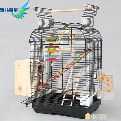 哆啦本鋪 互動性大鸚鵡鳥籠 金屬大號繁殖籠 小太陽金太陽和尚八哥籠A19/6 D655