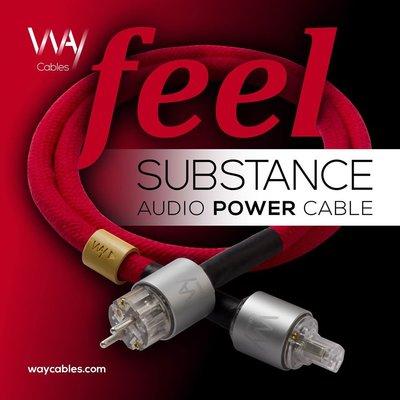 SUBSTANCE+ 5N&6N單晶銀 Power Cables電源線 歡迎來電洽詢