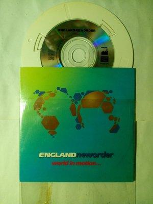 New Order 1990年 足球世界盃 英格蘭隊主題曲World in Motion 保存良好。附著3吋小CD嵌套