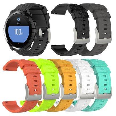 丁丁 頌拓 Suunto 9 Spartan Sport Wrist HR Baro 閃鑽光菱紋智能手錶矽膠錶帶替換腕帶