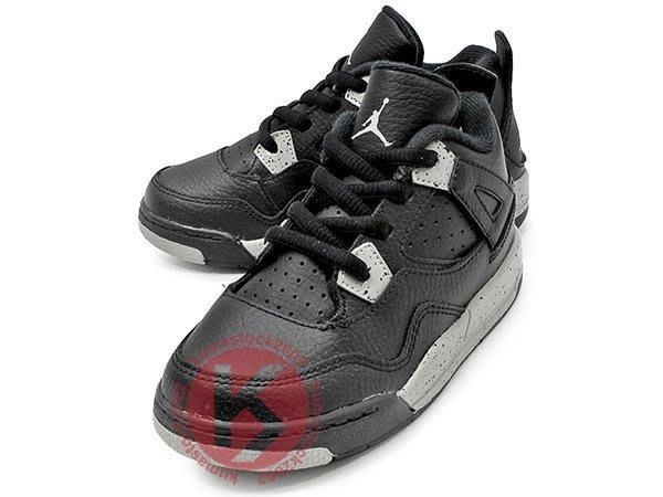 NIKE JORDAN 4 IV RETRO LS BT TD OREO 幼童鞋 BABY 鞋 黑灰 皮革 奧利奧