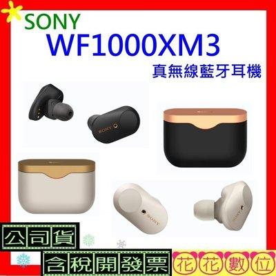現貨送保護套※花花數位※SONY WF1000XM3真無線藍牙耳機 公司貨 WF-1000XM3 含稅
