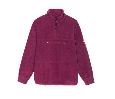 【HOMIEZ】STUSSY POLAR FLEECE MOCK NECK【118299】紫色 絨毛 立領 長袖上衣