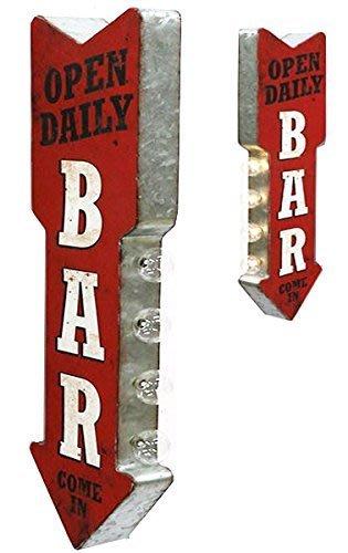 (I LOVE樂多) 日本進口 BAR LED立體仿舊情境招牌燈 家庭/酒吧/車庫/營業場所 情境擺設