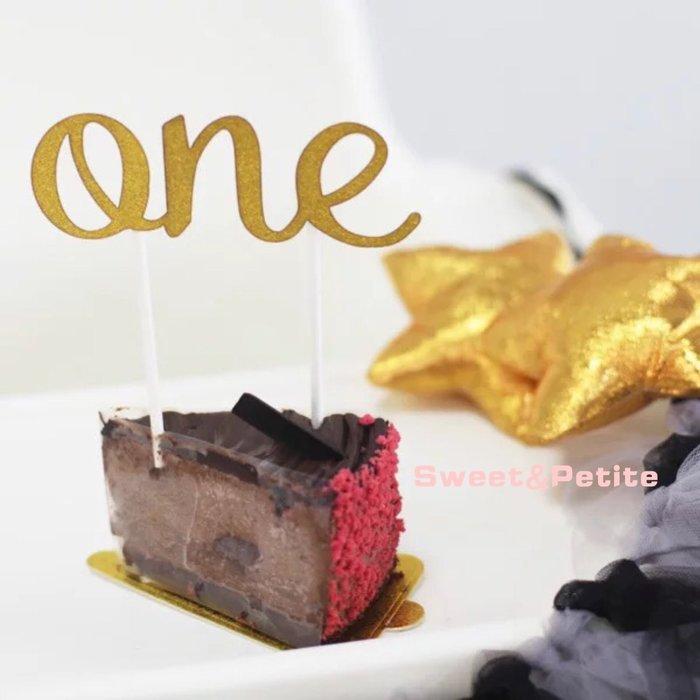 PR478❤ONE! 一歲生日蛋糕插牌❤ 周歲派對 1ST party 寶寶慶祝派對 蛋糕佈置道具 滿周歲生日蛋糕裝飾