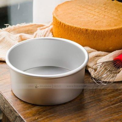 【 SHOP】BreadLeaf 6寸烤箱用 烘焙模具 陽極活底蛋糕模具戚風乳酪蛋糕模 鋁合金陽極蛋糕模【B010】