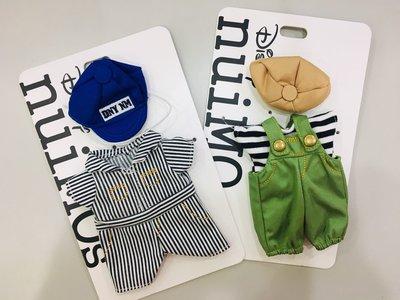 換裝😎 日本 迪士尼 nuiMOs 藍色帽條紋連身裝/綠色吊帶褲裝 娃娃 玩偶 衣服 配件 套組 米奇 米妮 唐老鴨
