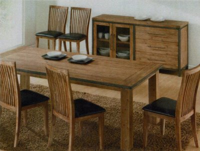 工業風餐桌椅組  餐桌1張+ 餐椅子4張 五件式工業風餐椅餐桌 實木鐵件餐桌椅組 個性風格獨具 全組特價27500-
