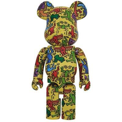 全新現貨 1000% MEDICOM BE@RBRICK 1000% Keith Haring #5 凱斯哈林5代 塗鴉 五代 Bearbrick 庫柏力克熊