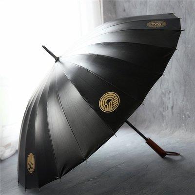 雨傘沛欣奇門遁甲八卦圖中國風復古木柄男士大傘24骨長柄傘黑膠晴雨傘