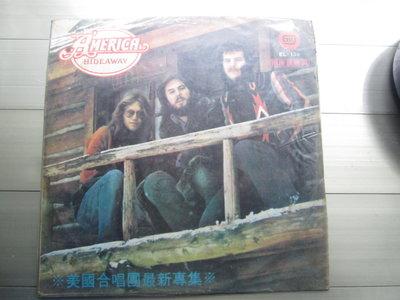 黑膠唱片(片況佳)America-Hideaway專輯,收錄Lovely Night等