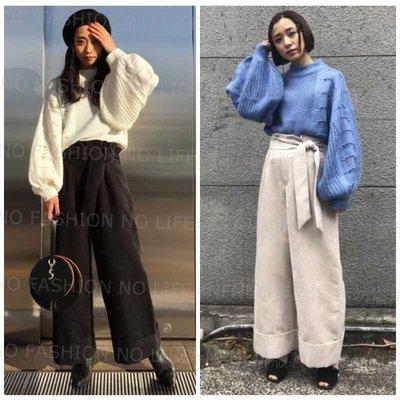 ☆NFNL☆ SLY 2018早春款 燈籠袖鏤空針織衫毛衣  MOUSSY IENA MURUA