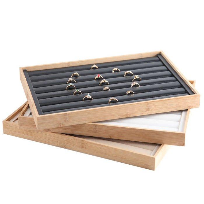 西柚姑娘雜貨鋪☛熱賣中#名魚新款復古竹木珠寶戒指托盤展示盤 戒指架飾品陳列展示道具