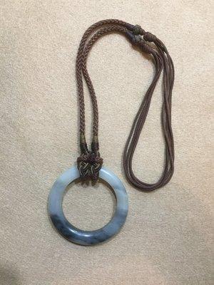 【小小的】~ 元代 老件 ~ [ 美品 ] 和闐白玉墨玉 袈裟環 太極環 亁坤環