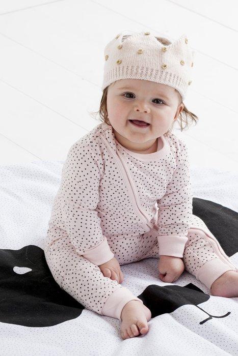 ☆AJ.FASHION☆ 代購歐美 cotton on baby 居家服 素色 拉鍊連身 兔裝 睡衣 粉色點點下標區