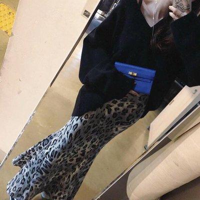 長裙 輕熟女翹臀性感豹紋彈力魚尾裙 艾...