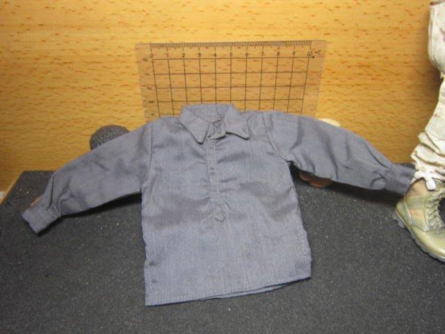 WJ2二戰部門 德軍款1/6鐵灰色上排扣襯衫一件(有袖扣)