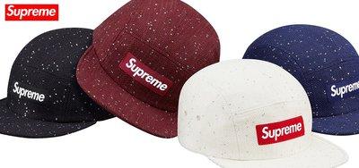 【超搶手】全新正品 2016 秋冬 最新款 Supreme Sequins Camp Cap 帆布 五分割帽 黑白藍紅