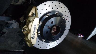 Audi專用A4 A5 A7 A8 B5 B8 前大六活塞可另購後四活塞 雙片式浮動碟 #卡鉗#活塞#煞車