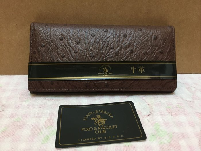 [變身館日本服飾]~POLO&RACQUET CLUB~牛革~皮革~長夾~零錢~證件~卡片~日本購入~全新正版現品~咖啡