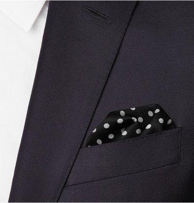 全新 Alexander McQueen Polka-Dot Silk-Twill Pocket Square 純絲方巾