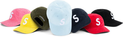 ☆LimeLight☆ Supreme Fine Wale Corduuroy S Logo 6-Panel 燈芯絨帽