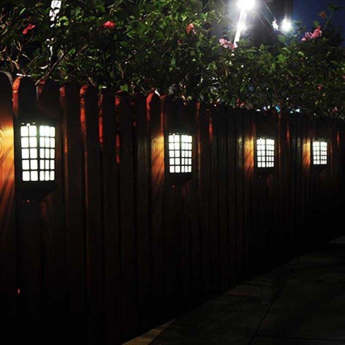 太陽能燈戶外庭院燈家用室外花園別墅裝飾燈景觀路燈門柱圍墻壁燈