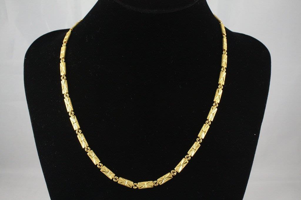 飛馬LINE當舖 售 9999 純黃金項鍊 重1兩4分2厘 9.9新 當日金價*重量 =售價