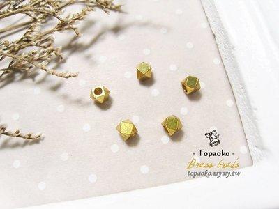 《晶格格的多寶格》實心黃銅方切角珠【F7157.F7159.F7160】2/2.5/3mm手工飾品DIY串珠材料隔珠配件