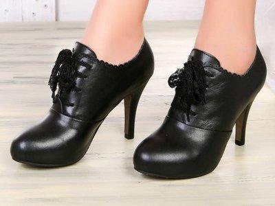 高跟裸靴 女鞋子-時尚皮革優雅休閒女靴子2色ws40[韓國進口][米蘭精品]