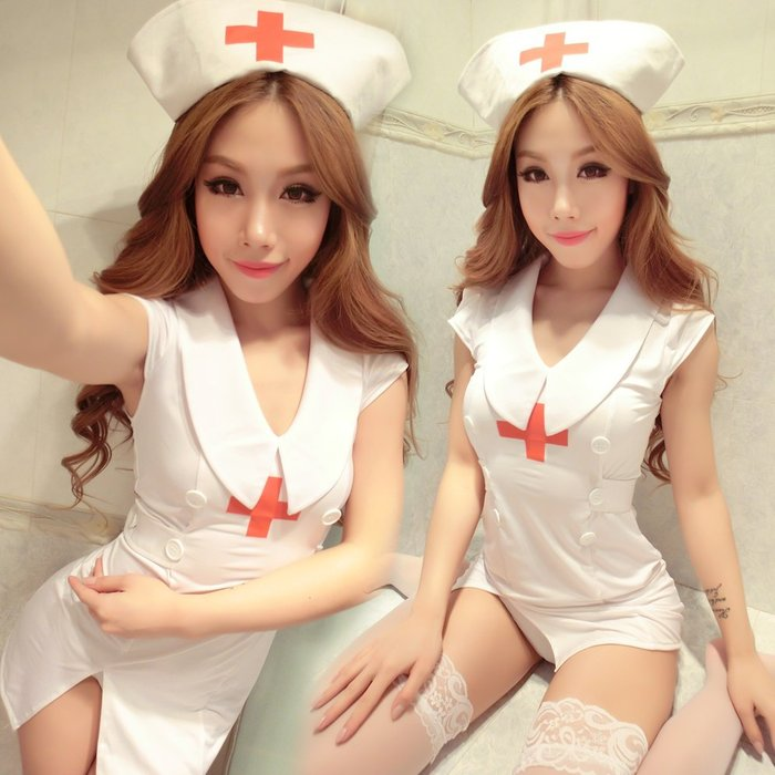 極致誘惑!!!性感護士制服極度誘惑激情套裝SM女情趣內衣大碼短裙睡衣角色扮演