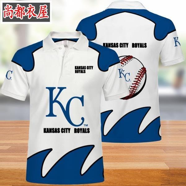 【尚都衣屋】 MLB堪薩斯城皇家隊男女polo衫t恤夏季 philadephia
