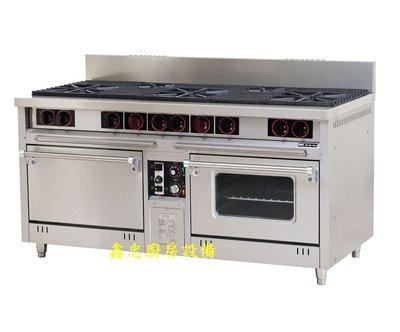 鑫忠廚房設備-餐飲設備:三主二副西餐爐熱風烤箱,賣場有工作檯-冰箱-快速爐-水槽