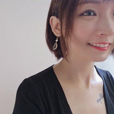 her.水晶耳環-天然珍珠