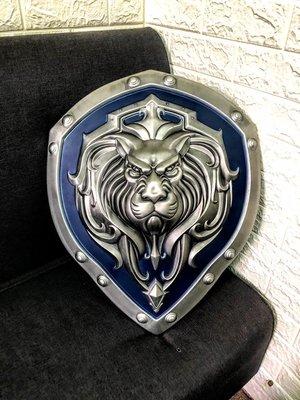 魔獸世界士兵大盾-外層金屬內層塑膠-握把牛皮