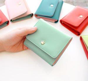 Growlife 種生活 ▶韓國 Donbook - Crown Wallet .W時尚皇冠皮革短夾+可拆式零錢包/皮夾