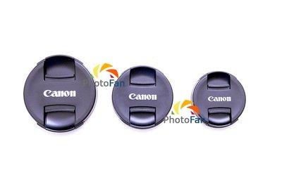 ☆PhotoFan☆ 49mm 副廠Canon中扣式鏡頭蓋 EF-M 15-45mm EF 50mm f/ 1.8STM 台南市