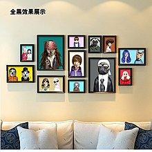 寵物狗店創意組合相框裝飾畫掛畫壁畫照片牆 相框牆寵物用品牆畫(4組可選)