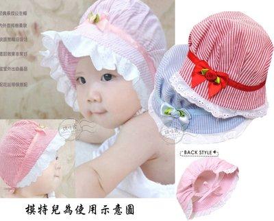 媽咪家【R080】R80布蕾絲小帽 春夏款 可愛 布蕾絲 花邊 軟綿 新生兒帽 寶寶帽 遮陽 防曬~頭圍44-54cm內