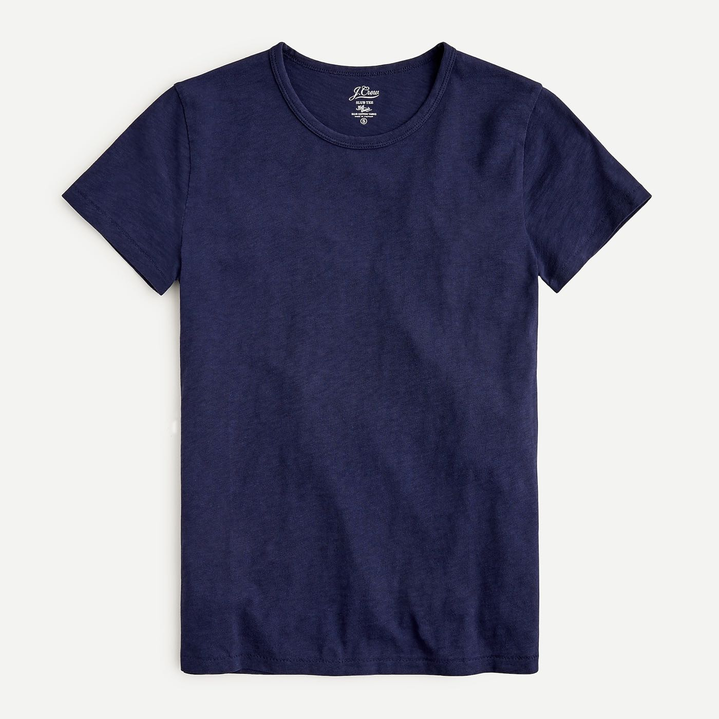 全新正品J.Crew Painter slub fitted crewneck T-shirt黑色合身棉T
