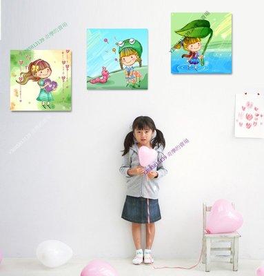 【60*60cm】【厚0.9cm】卡通人物兒童房-無框畫裝飾畫版畫客廳簡約家居餐廳【280101_031】(1套價格)