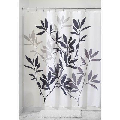 浴簾浴室用品外貿出口大版葉子歐式印花滌綸防水防霉浴簾curtain送環