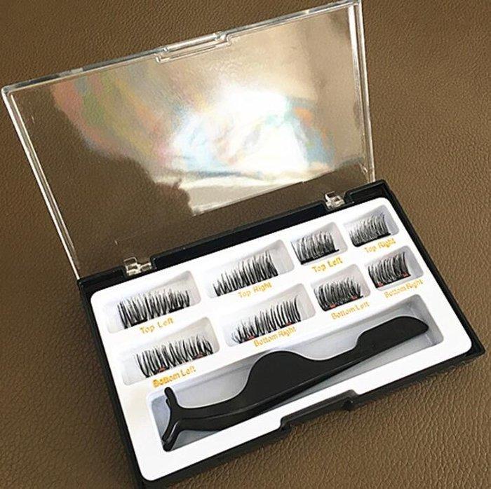 磁石眼睫毛 3D雙磁鐵假睫毛 歐美流行爆款磁性3d雙磁石眼睫毛無免膠【MISS ANNA】